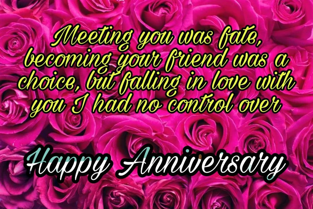happy anniversary to us