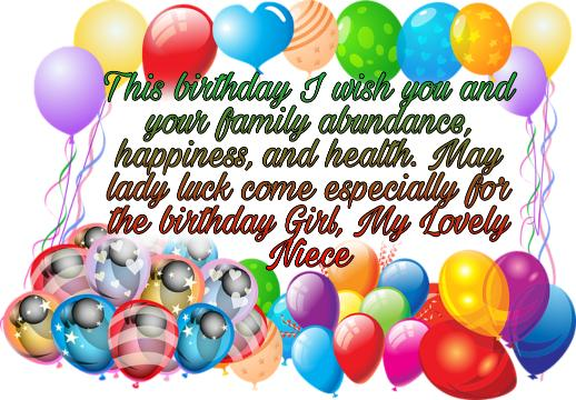 lovely wish for niece
